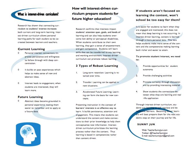 Interest-Driven Curriculum 2